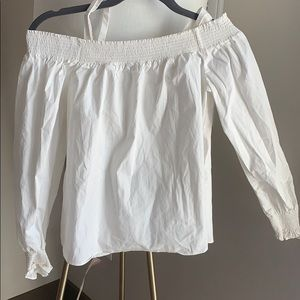 White boatneck top